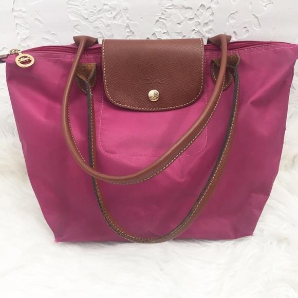 Longchamp Handbags - Longchamp Le Pliage Small Shopping Tote in Dahlia cc571f47b289a